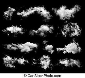 pretas, jogo, nuvens, fundo
