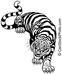 pretas, tiger, branca
