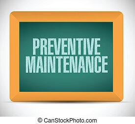 preventivo, mensagem, manutenção, sinal