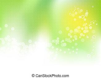primavera, abstratos, experiência verde