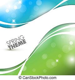 primavera, abstratos, vetorial, fundo