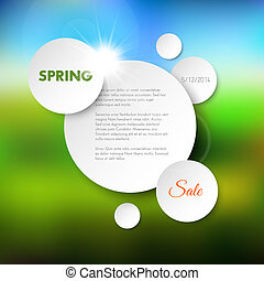 primavera, fundo, vetorial, venda