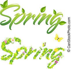 primavera, palavras