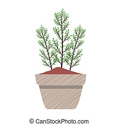 primavera, planta pote, cinzento, cerâmico, natureza, ícone, estação, casa