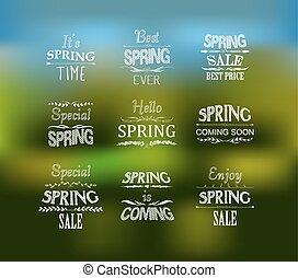 primavera, projeto fixo, tipográfico