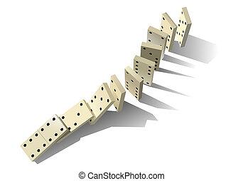 principle., domino, vetorial, ilustração