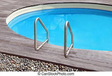 privado, piscina, natação