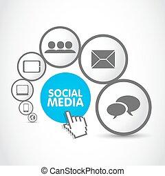 processo, mídia, grupo, social