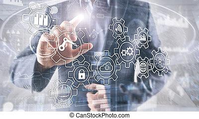 processo, tecnologia, indústria, automation., 4.0., inovação, esperto