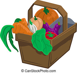 produto, cesta, legumes