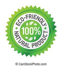 produto, eco-amigável, sinal