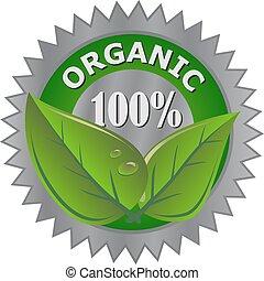 produto, orgânica, etiqueta