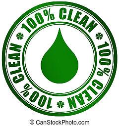 produto, símbolo, limpo