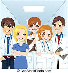 profissionais, equipe médica