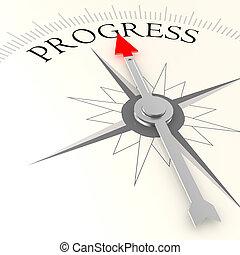 progresso, palavra, compasso
