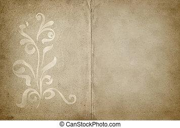 projeto floral, pergaminho