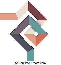 projeto geométrico, abstratos, mínimo
