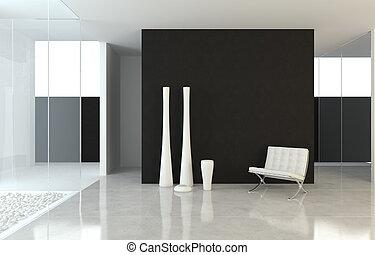 projeto interior, modernos, b&w