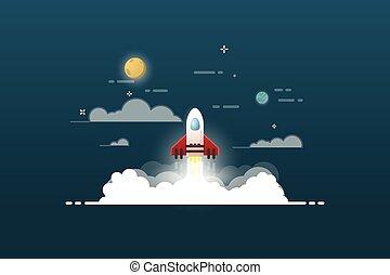 projeto, lançamento foguete