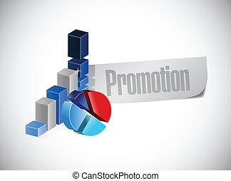 promoção, desenho, ilustração negócio, sinal