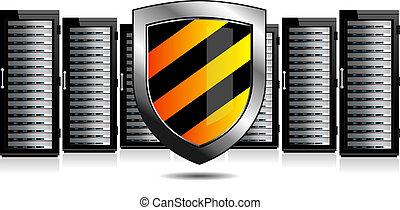 proteção, escudo, servidores