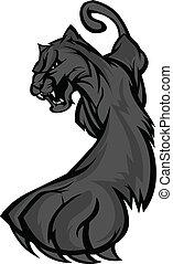 prowling, corporal, vetorial, pantera, mascote