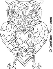 pulos, knotwork, celta, cevada, coruja