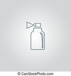 pulverizador, ícone