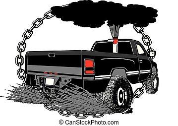 puxando, canstock, caminhão, [converted].eps