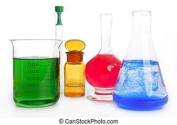 químico, equipamento, laboratório, químico, pesquisa