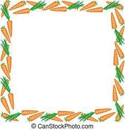 quadro, cenouras