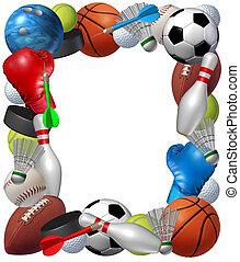 quadro, esportes