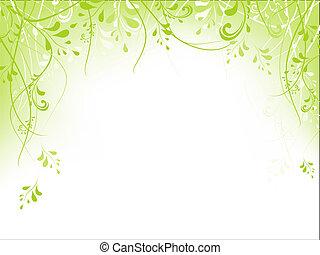 quadro, foliage, verde