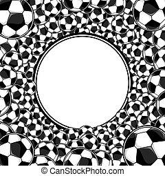 quadro, futebol, fundo, bolas