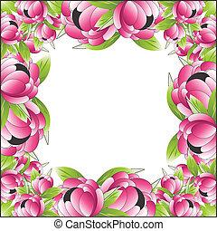 quadro, vetorial, flor