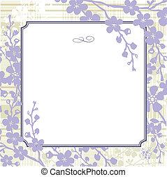 quadro, vetorial, lilás, fundo
