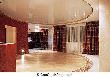 quarto moderno, vivendo, interior