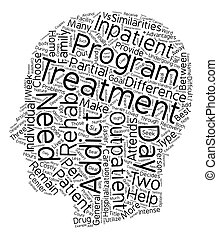 que, conceito, rehab, texto, outpatient, droga, inpatient, s, vs, fundo, diferença, wordcloud