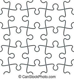 quebra-cabeça, jigsaw, seamless