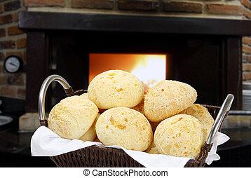 queijo, pão