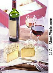queijo, vinho