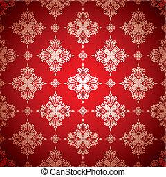 quentes, papel parede, prata, vermelho