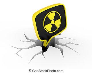 radiação, sinal