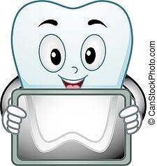 radiologic, mascote, dentes, varredura
