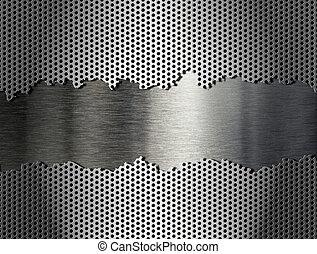 ralar, metal, prata, fundo