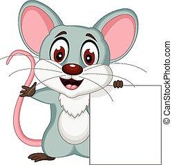 rato, caricatura, sinal