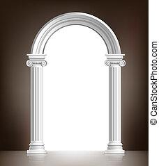 realístico, branca, arco