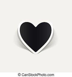 realístico, element:, desenho, coração