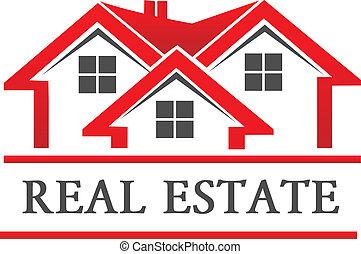 real, casa, companhia, propriedade, logotipo