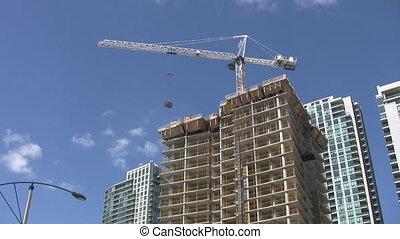 real, condomínio, time., construction.